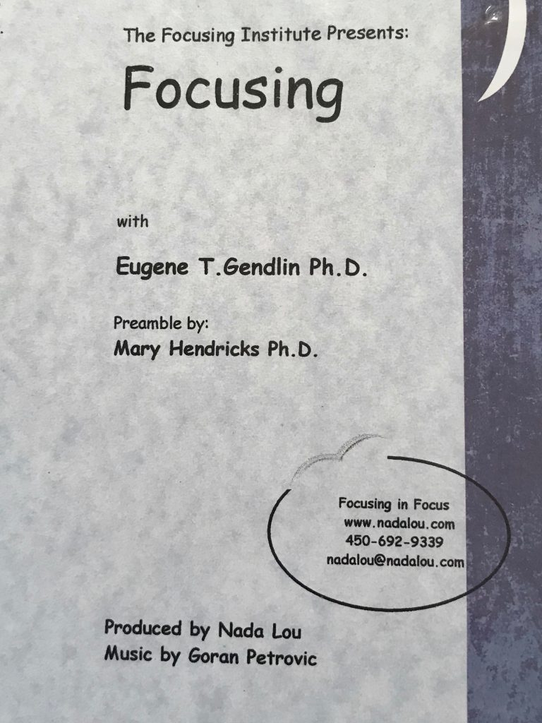 FOCUSING  WITH EUGENE T. GENDLIN DvD