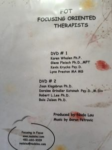 FOCUSING ORIENTED THERAPISTS DVD