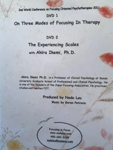 ON THREE MODES OF FOCUSING/EXPERIENCING SCALES DVD