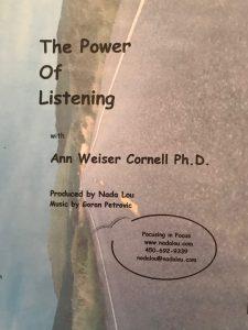 THE POWER OF LISTENING Ann Weiser Cornell PhD DVD